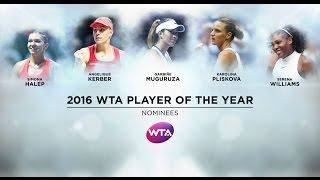 2016 WTA Player of the Year Finalists