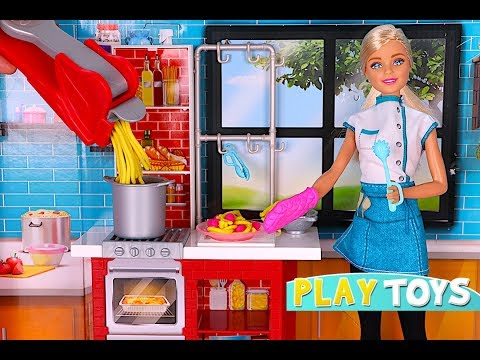 Xxx Mp4 Barbie Doll Kitchen Toys Play BARBIE CHEF Cooking Pasta With Play Doh 3gp Sex