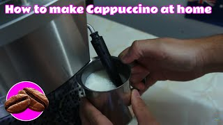 How to make Cappuccino milk with your home espresso machine