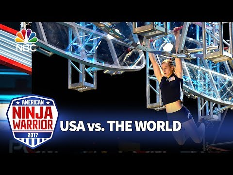 Jessie Graff's Record Breaking Run American Ninja Warrior USA vs. The World
