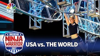 Jessie Graff's Record-Breaking Run - American Ninja Warrior: USA vs. The World