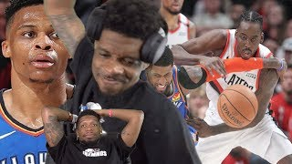 LOOKS LIKE WE'RE GOING HOME 0-4.. THUNDER vs TRAIL BLAZERS GAME 1 & 2 NBA PLAYOFFS HIGHLIGHTS
