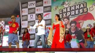 Sharukh Khan and Deepika Padukone for the promotion of Chennai Express at LPU