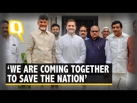 Xxx Mp4 'Oppn Must Unite To Defend Democracy' Rahul After Meeting Naidu 3gp Sex