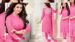 Pakistani Salwar Suits Chanderi Cotton Silk Suits Collection | latest summer fashion collection 2016