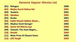 Kareena Kapoor Movies List