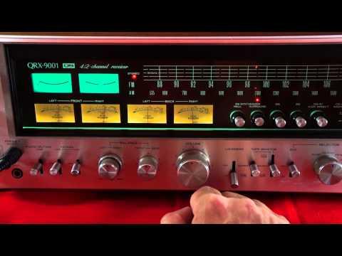 Sansui QRX 9001 vintage Quad receiver demonstration