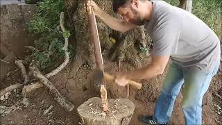 Roughing Out a Yew Bow with Hand-Tools: Part 1