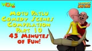 Motu Patlu Comedy Scenes - Compilation Part 10 -  45 Minutes of Fun!