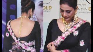 Bollywood Actress Tabu Hot Back In Saree