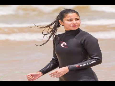 In Graphics: Katrina Kaif surfs for the first time in Essaouira
