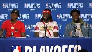 Lou, Harrell & Beverley Postgame Interview - Game 5 | Clippers vs Warriors | 2019 NBA Playoffs