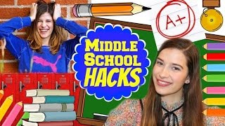 MIDDLE SCHOOL LIFE HACKS!!!
