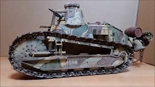 1/16 WW1 Renault FT-17 RC Tank Model
