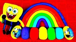 Play Doh Rainbow Egg Spongebob Peppa Pig Minnie Cars Mario Frozen Elsa LPS Dora Disney Toy FluffyJet