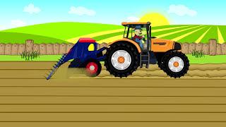 Combine Harvester | Red Tractor for Kids | Kombajn i Traktor dla dzieci - Praca na Farmie