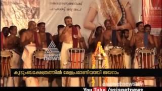 Jayaram's Chenda melam at Thottuva temple Perumbavoor