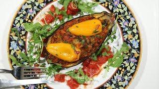 Mushrooms Bulgur Stuffed Eggplants Recipe - Eggplant Boats - Heghineh Cooking Show