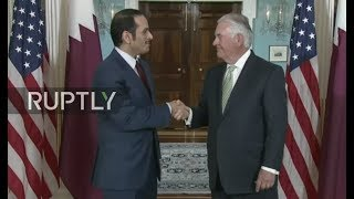 LIVE: US Secretary of State Rex Tillerson meets Qatari FM: meeting protocol