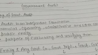 GOVERNMENT AUDIT REVISION 1 CA IPCC NOVEMBER 2017