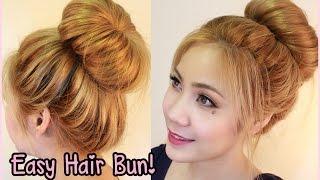 3 minute easy hair bun สอนทำผมดังโง๊ะเพียง3นาทีเด้งเลยคะ