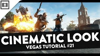 How To Make Gameplay Footage Look Cinematic - Sony Vegas Pro 15 Tutorial #21