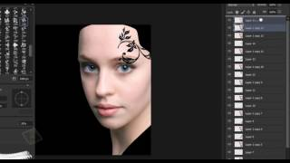 [HD] Vector portrait in photoshop cs6 _ photo effects tutorial