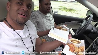 Eating Chruch's Chicken in Kansas City @hodgetwins