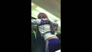 Drunken Chav loses it on a train
