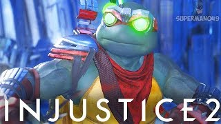 """1012 DAMAGE COMBO WITH EPIC RAPHAEL! - Injustice 2 """"Ninja Turtles"""" Pizza Party Gameplay"""