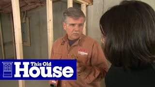 How to Frame Walls for a Basement Room - This Old House