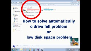 How to Solve automatically C drive full problem | low disk space problem Solved 2017