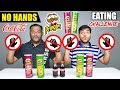 NO HANDS PRINGLES CHIPS EATING CHALLENGE | Pringles Chips Eating Competition | Food Challenge