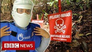 Risking her life every day hunting for landmines - BBC News