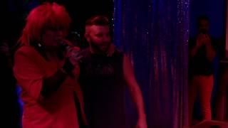 Tiffany singing I think We're Alone now Karaoke 3-2017