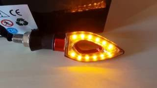 Motorcycle Turn Signal 12-LED Indicator Light  -  RED