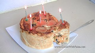 PIZZA CAKE *COOK WITH FAIZA*