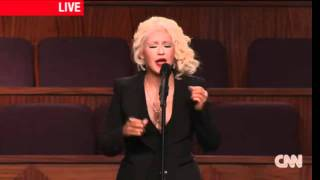 Christina Aguilera at Etta James Funeral