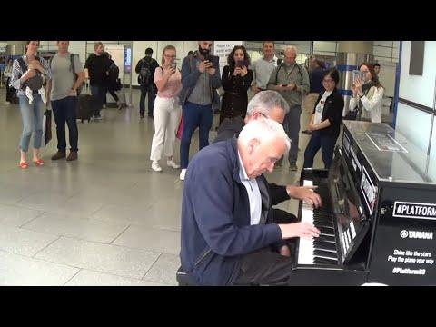 Senior Citizen Plays Piano Then Magic Occurs