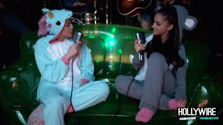 Miley Cyrus & Ariana Grande Duet Wearing Onesies! (VIDEO) | Hollywire