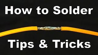 How to Solder Wires and Electronics (Best Tips and Tricks) TUTORIAL - By STE
