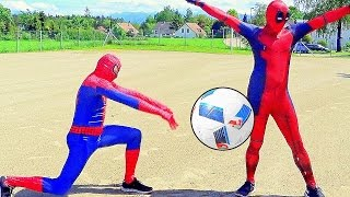 SPIDERMAN vs DEADPOOL - CROSSBAR CHALLENGE