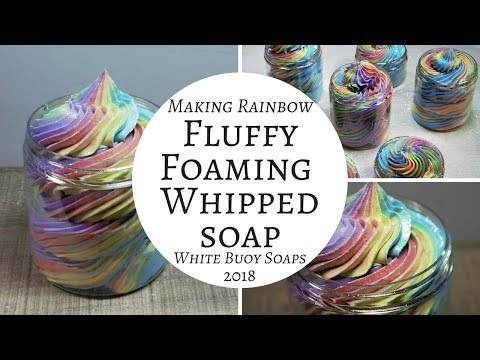 Rainbow Fluffy Whipped Soap Making Foaming Bath whip White Buoy Soaps