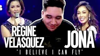 Regine Velasquez & Jona - I Believe I Can Fly (Queen of the Night Concert) REACTION!!!
