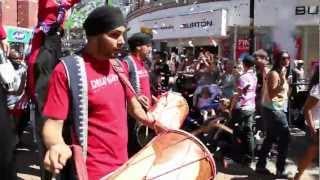 Cool Dhol Players Croydon High Street - Celebrating Olympic Torch.mp4