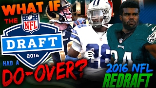 WHAT IF THE 2016 NFL DRAFT HAD A DO-OVER? 2016 NFL REDRAFT | MADDEN 17 CONNECTED FRANCHISE