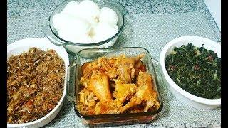 Sunday Dinner | Zambian Food | Nshima | Kapenta | Village Chicken |Chibwabwa
