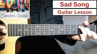 We The Kings - Sad Song | Guitar Lesson (Tutorial) How to play Chords