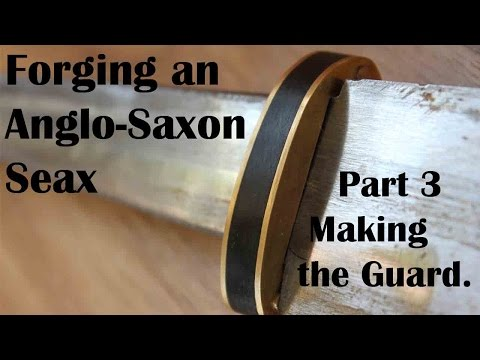 Forging an Anglo-Saxon Seax, Part 3: Creating the guard.