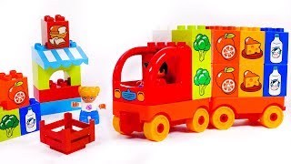 Learn your Colors with Delivery Truck Building Blocks Toys for Children